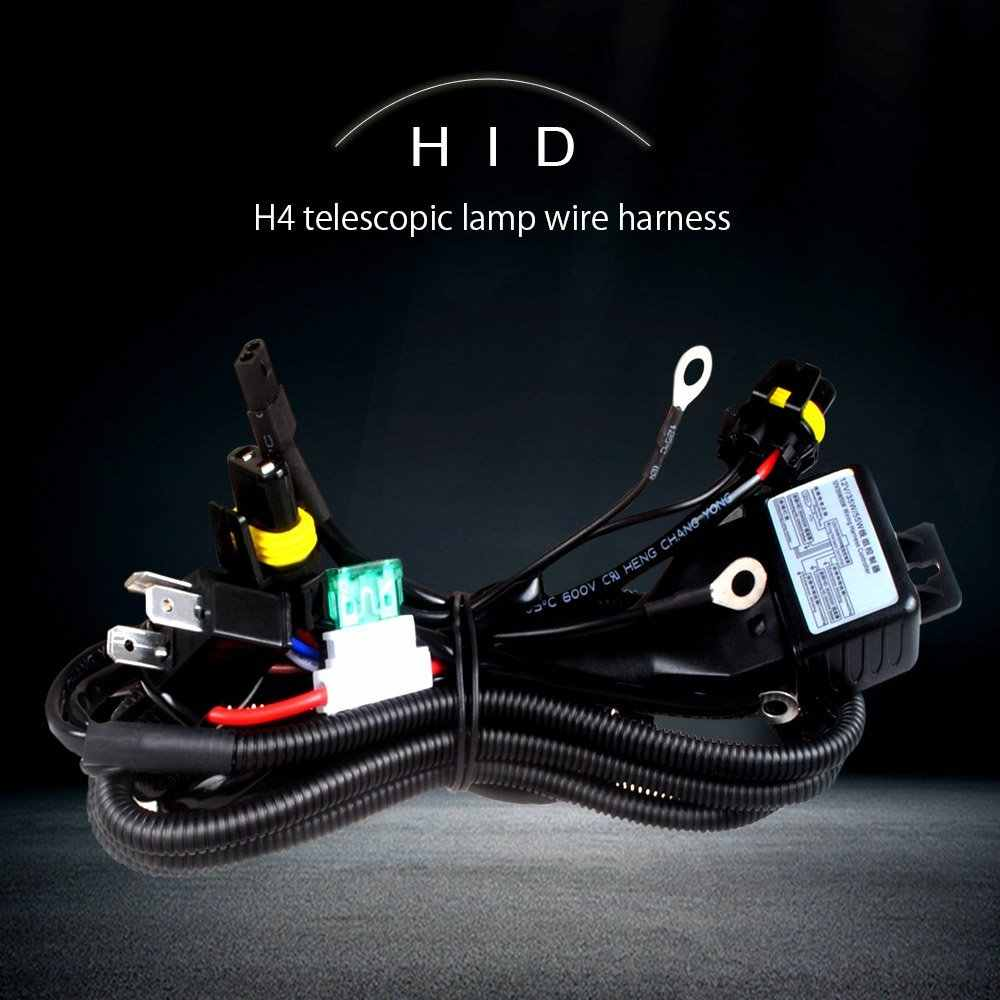 12V 35W 55W HID Bi xenon H4 Wire Harness Controller for Car ... Hid V Wiring Harness Controller Diagram on