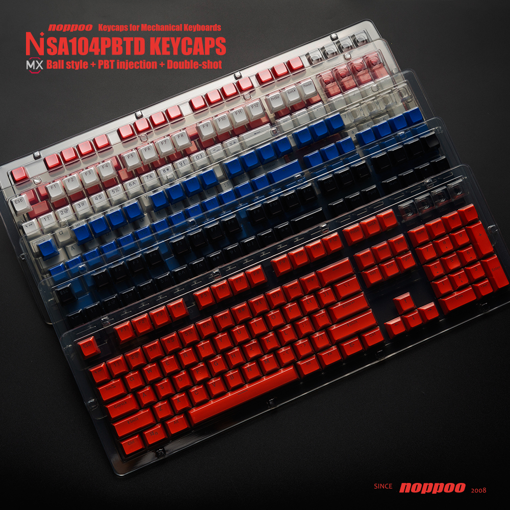Double shot Keycaps 104 key ANSI layout PBT SA Profile Backlit Keycap For Mechanical Gaming Keyboard