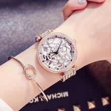 2017 New Diamond Women Bracelets Watches Top Luxury Rhinestone Wristwatch Fashion Lady Crystal Dress Female Quartz Watch