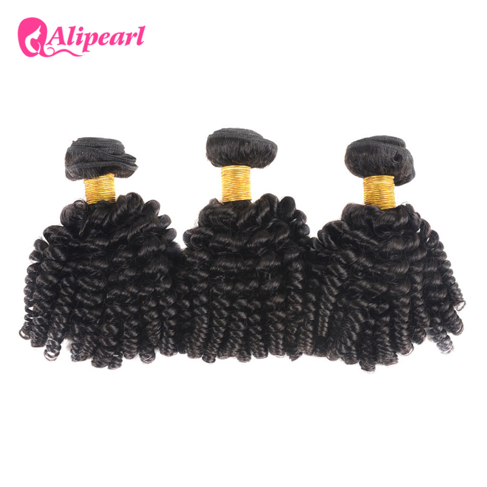 Alipearl Hair Mongolian Afro Kinky Curly Weave Human Hair Bundles 8-28 Inch 3 Bundles Natural Black Color Remy Hair Extension