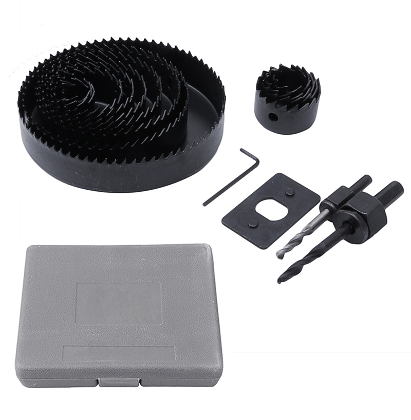 13Pcs Hole Saw Cutting Set 19-127MM Cutting Kit Tool for Wood Sheet Metal Alloy 96pcs 130mm scroll saw blade 12 lots jig cutting wood metal spiral teeth 1 8 12pcs lots 8 96pcs