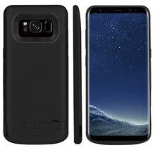 5000/6500mAh Batteria di Caso Del Caricabatteria Per Samsung Galaxy S8 Portatile Viaggio di Ricarica Banca di Potere Del Telefono Della Copertura di Caso Per samsung S8 Più