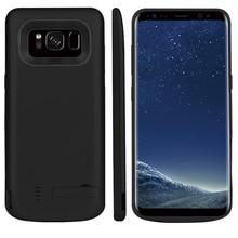 5000/6500mAh pil şarj durumda Samsung Galaxy S8 taşınabilir seyahat şarj güç bankası telefon kılıfı samsung S8 artı
