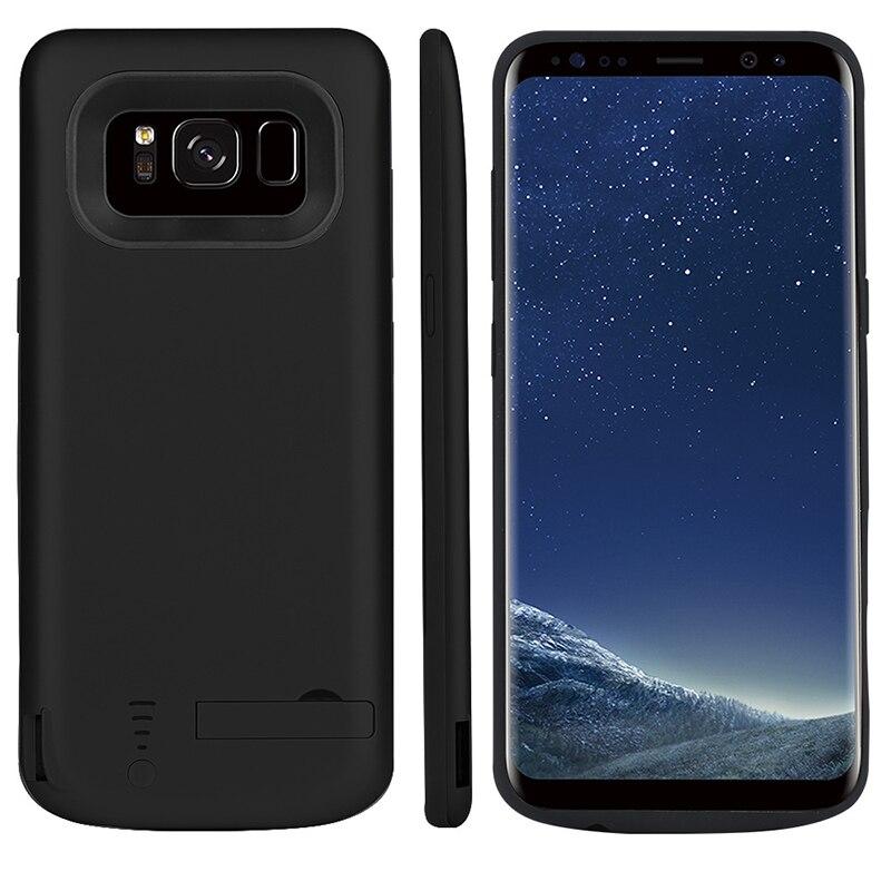 Funda de cargador de batería de 5000/6500mAh para Samsung Galaxy S8, funda de teléfono portátil con cargador de viaje para Samsung S8 Plus