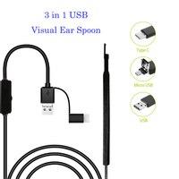 3 In 1 HD Visual Ear Spoon USB Ear Cleaning Endoscope Multifunctional Earpick With Mini Camera