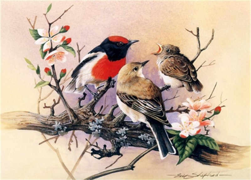 Diamond Painting Full drill square Dress animal bird flower Mosaic DIY Diamond Painting Cross Stitch Embroidery Home Decor