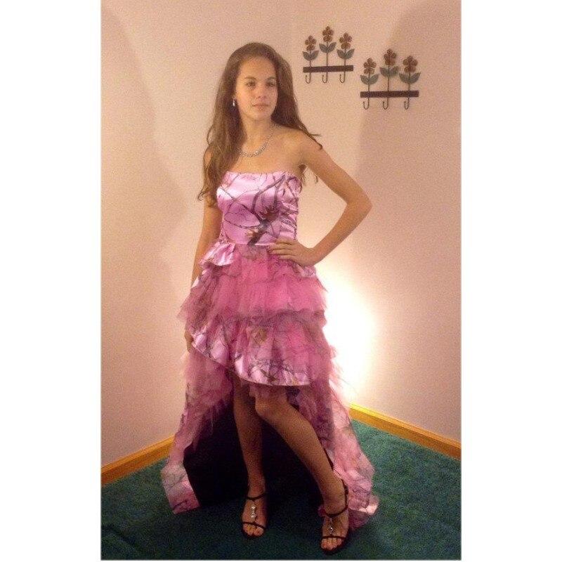 Pink Camo Prom Dress – fashion dresses