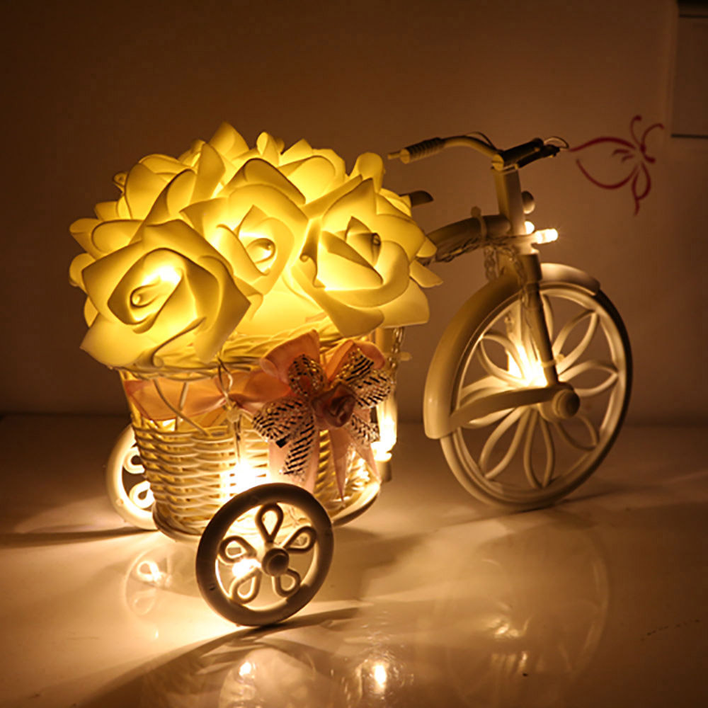 Ny 2M 20 Rose Batteri LED String Light Christmas / Bröllop / Party - Festlig belysning - Foto 3