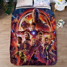 Summer Cool Tencel Single quilt cover The Avengers bedding set Air conditioner quilt cover Silky and comfortable Duvet Covers