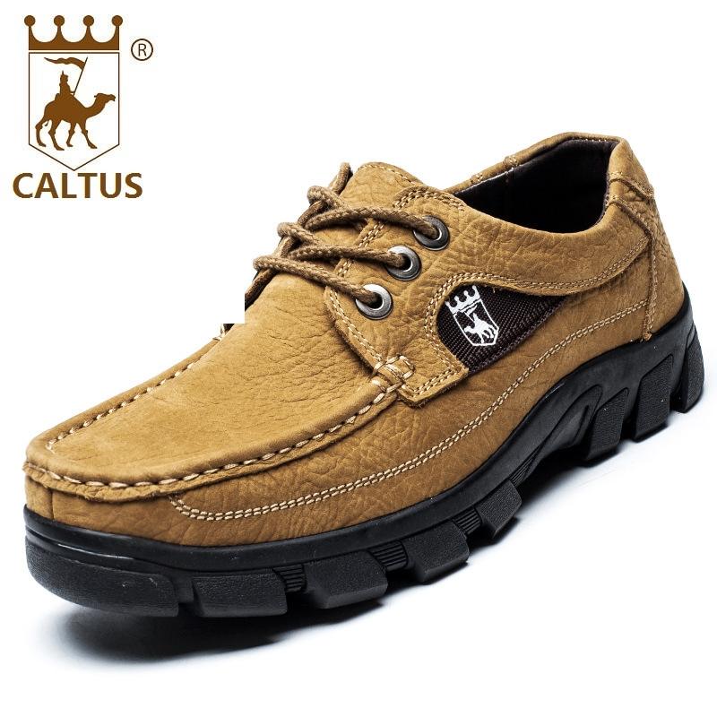 Caltus Size 38-47 Men Shoes Dress Soft Footwear Classic Genuine Leather Party And Wedding Men Flats AA20558 male casual shoes soft footwear classic flats men genuine leather shoes good quality working shoes size 38 44 aa30059