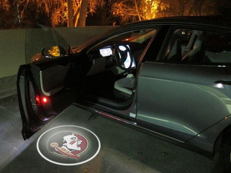 2 pz Florida State Seminoles LED del PORTELLO di AUTOMOBILE PROIETTORI luce dell'automobile di benvenuto