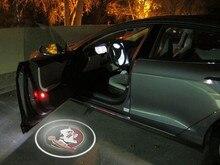 2 шт. штата Флорида Семинолы светодио дный автомобиля дверные прожекторы автомобилей Добро пожаловать Свет
