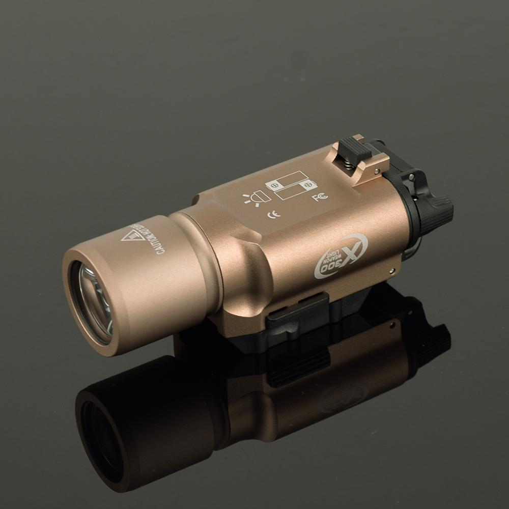 Lampe de poche tactique X300 avec lampe torche militaire Picatinny, fusil de chasse, pistolet, lumière Scout - 2