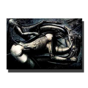 Art Poster Print Hr Giger Alien Ontwerp Film Hot Thuis Muur Decor8x12 12X18 24x36decor Canvas