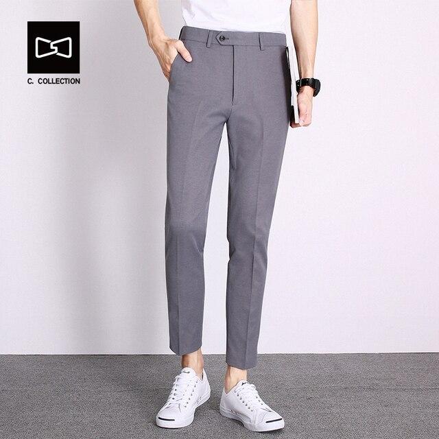 24c364525491 Men s Casual Pants Men Pants Trousers Cotton Slim Fit Ankle-Length Pants  Spring Summer Straight Men pants