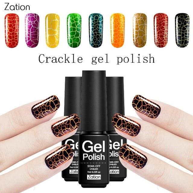 Zation Crack Nail Polish Lacquer Cracking Gel Varnish Crackel Nail