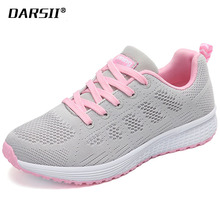 DARSII Brand Women Casual Shoes Air Mesh Sneakers Woman Outdoor Non slip Ladies Flats Shoes Lace up Chaussure Femme Size 35-40 A