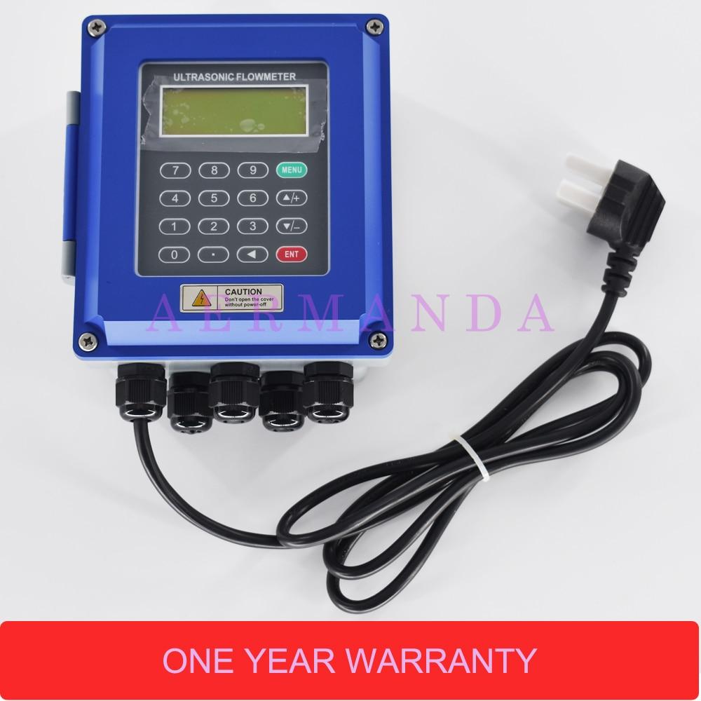 Ultrasons liquide débitmètre RS485 Modbus Nouveau TUF-2000B 4-20mA analogique sortie mur-monté DN50-700mm pour le contrôle industriel