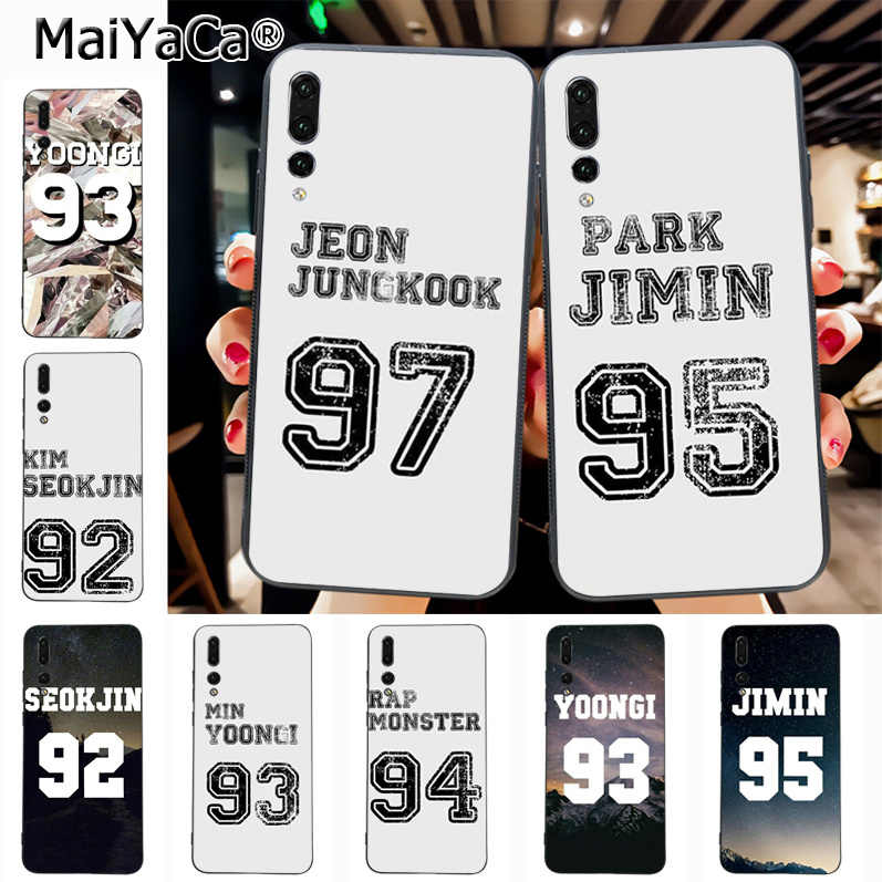 Maiyaca BTS jersey Jungkook jhope jimin Hot Sale Fashion Luxury cover phone  Case for Huawei P20 P20 pro Honor9 Mate10 case Cover
