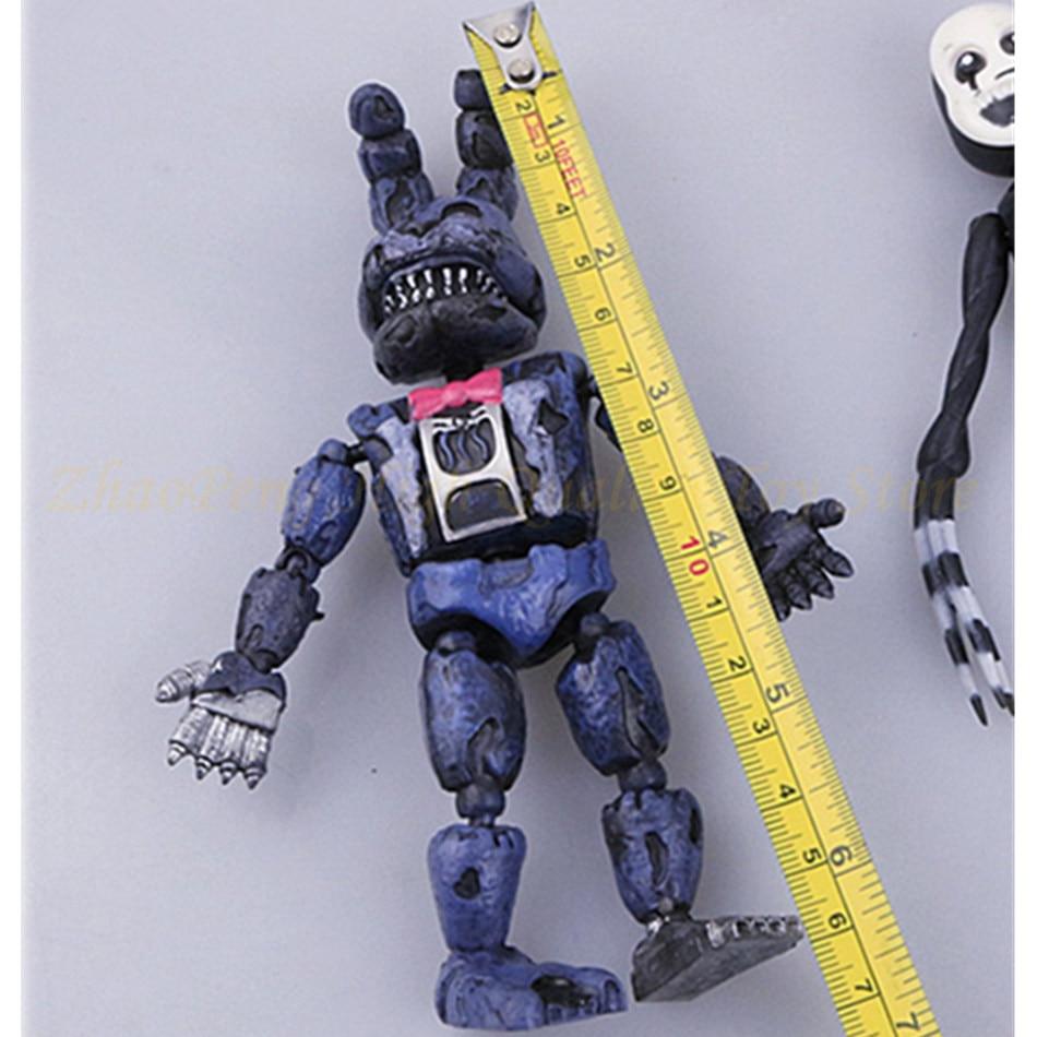 6 kom / set rasvjeta pokretni zglobovi pet noći u Freddy's Action - Igračke figurice - Foto 5