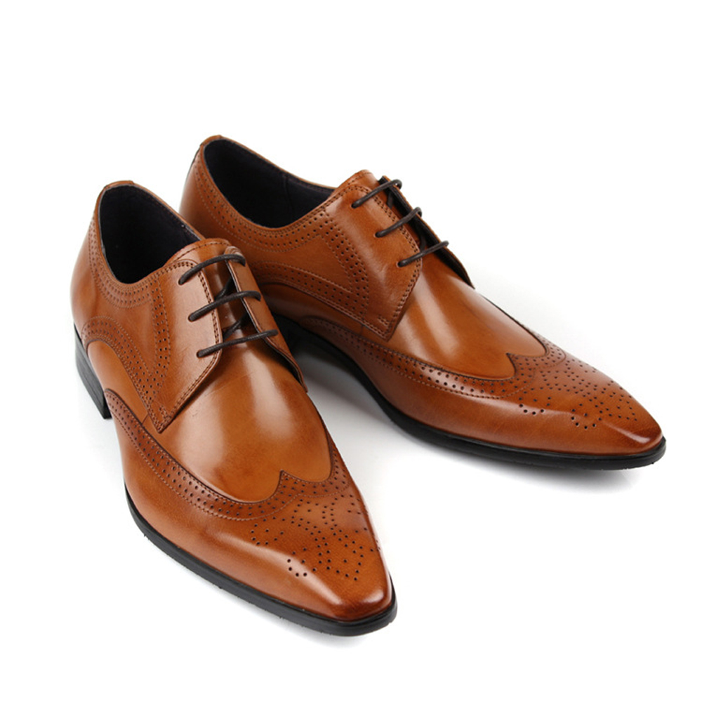 Men Genuine Leather Wedding Bullock Shoes For Office Career Dress Pure Business High Quality 9801 In Women S Flats From On