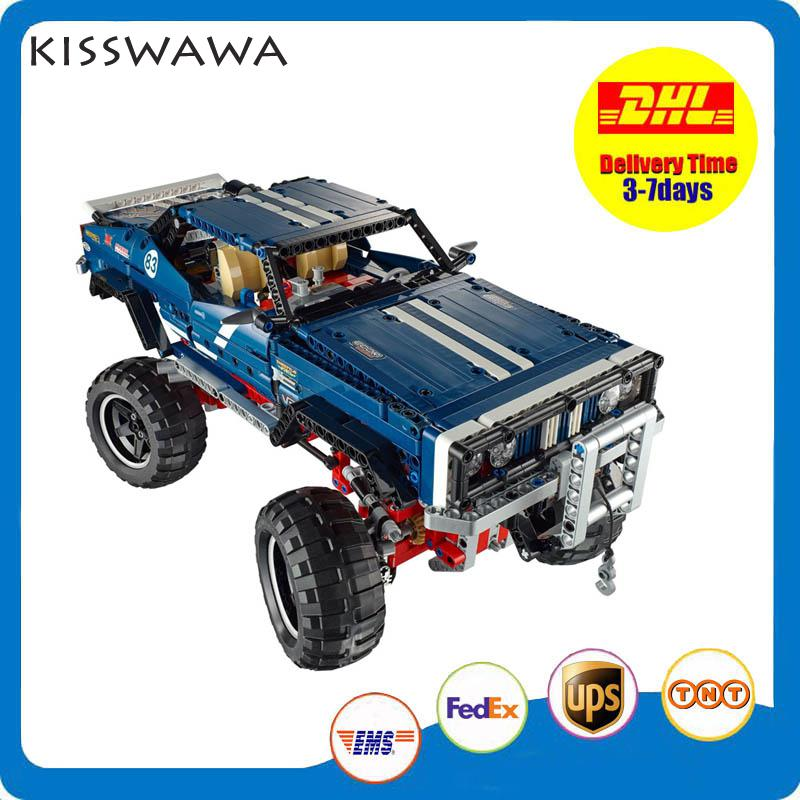 KISSWAWA Lepin 20011 1605pcs Technic Remote Control Electric Off-road Vehicles Building Block Toys For Children