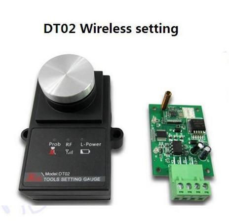 DT02 CNC Wireless Setting Tool gauge sensor Mach3 Tool high accuracy tool settle gauge wireless cnc router machine tool setting gauge height controller dt02