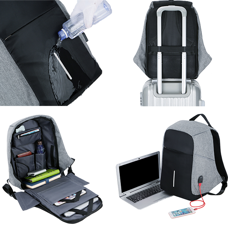 Men Anti theft Backpack USB Charging 15 6 Laptop Backpack Multifunction Waterproof Travel Bagpack women High