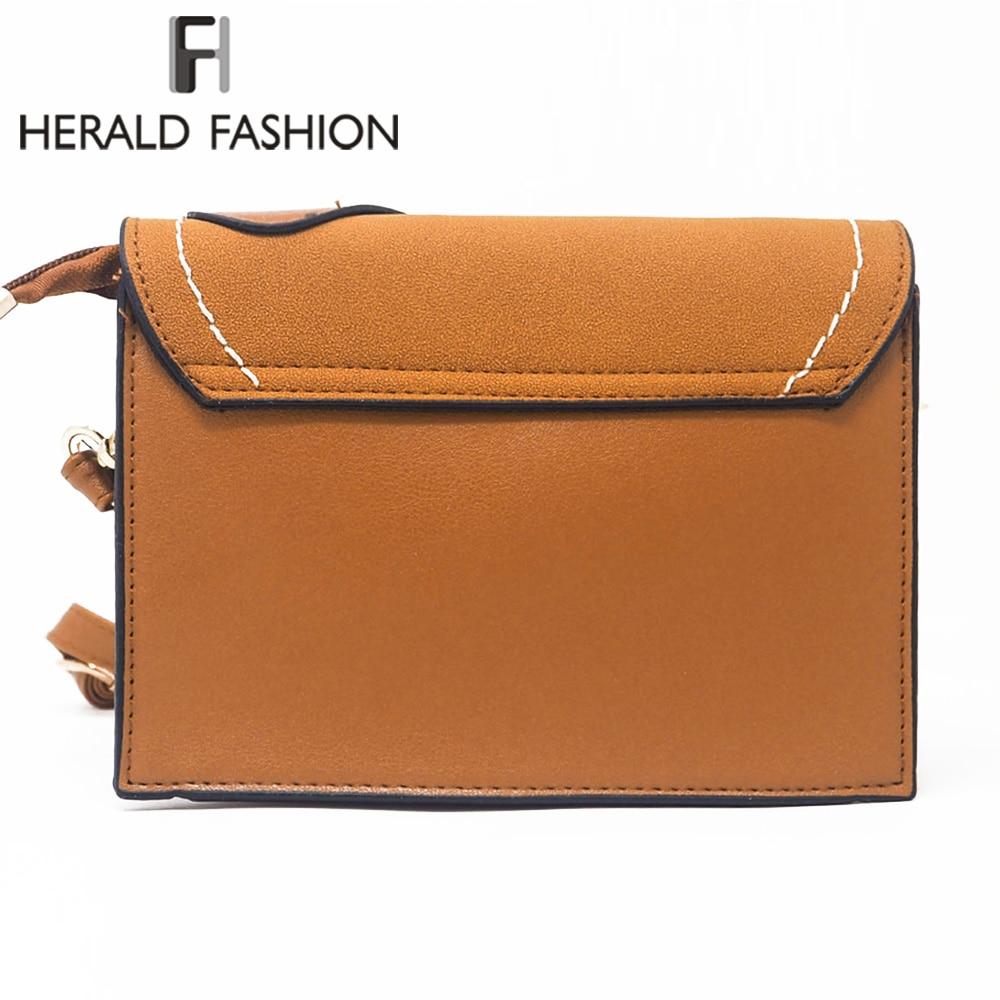 Herald Fashion Women Messenger Bags High Quality Female Leather Shoulder Bag Causal Ladys Crossbody Flap Bags Bolsa Feminina