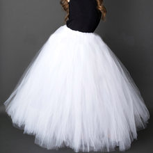ac24e15377ae7 Pure White Long TUTU Skirt for Girls Solid Fluffy Tulle TUTUS Kids Wedding  Party Costume 6