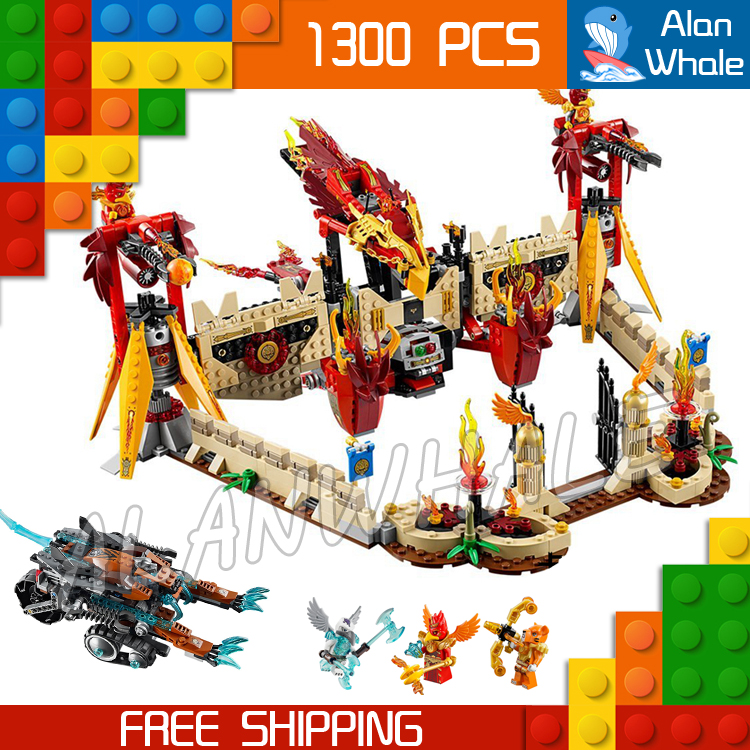 1300pcs Bela 10298 Flying Phoenix Fire Temple Toys For Kids Model Building Blocks Bricks movie Compatible with Lego 449pcs bela 10295 laval s fire lion model diy building blocks for children sets classic bricks toys compatible with lego
