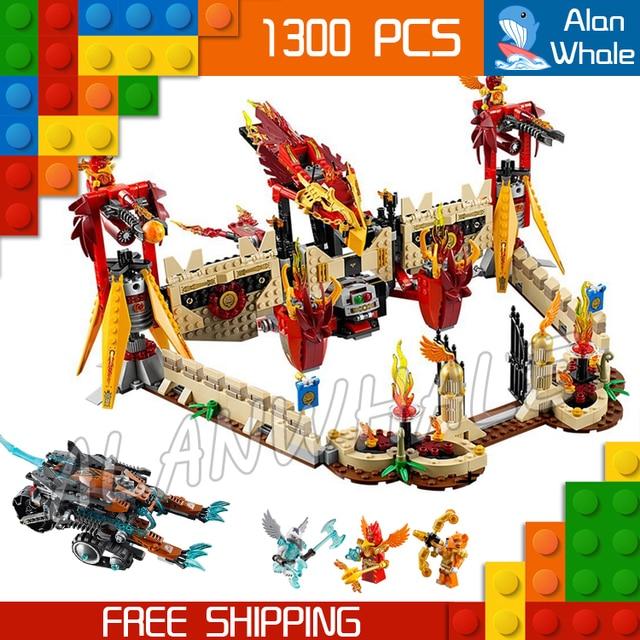 1300pcs Bela 10298 Flying Phoenix Fire Temple Toys For Kids Model ...