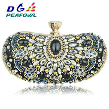 Vintage Beaded Women clutch bag Handbags Chain Accessory Metal Day Clutches Party Wedding Evening Bags Diamonds crossbody Purse lace wedding women handbags diamonds metal day clutches purse evening bags messenger chain shoulder handbags