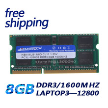 KBA16LS11/8 1600Mzh DDR3 8GB DDR3L 1.35 V PC3-12800L 1.35V Memory Ram Memoria for Laptop Computer Free Shipping