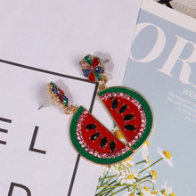 Watermelon Styling Earrings Premium Fruit Drop Ear Accessories Colorful Dangle Jewelry Wedding Earings Fashion