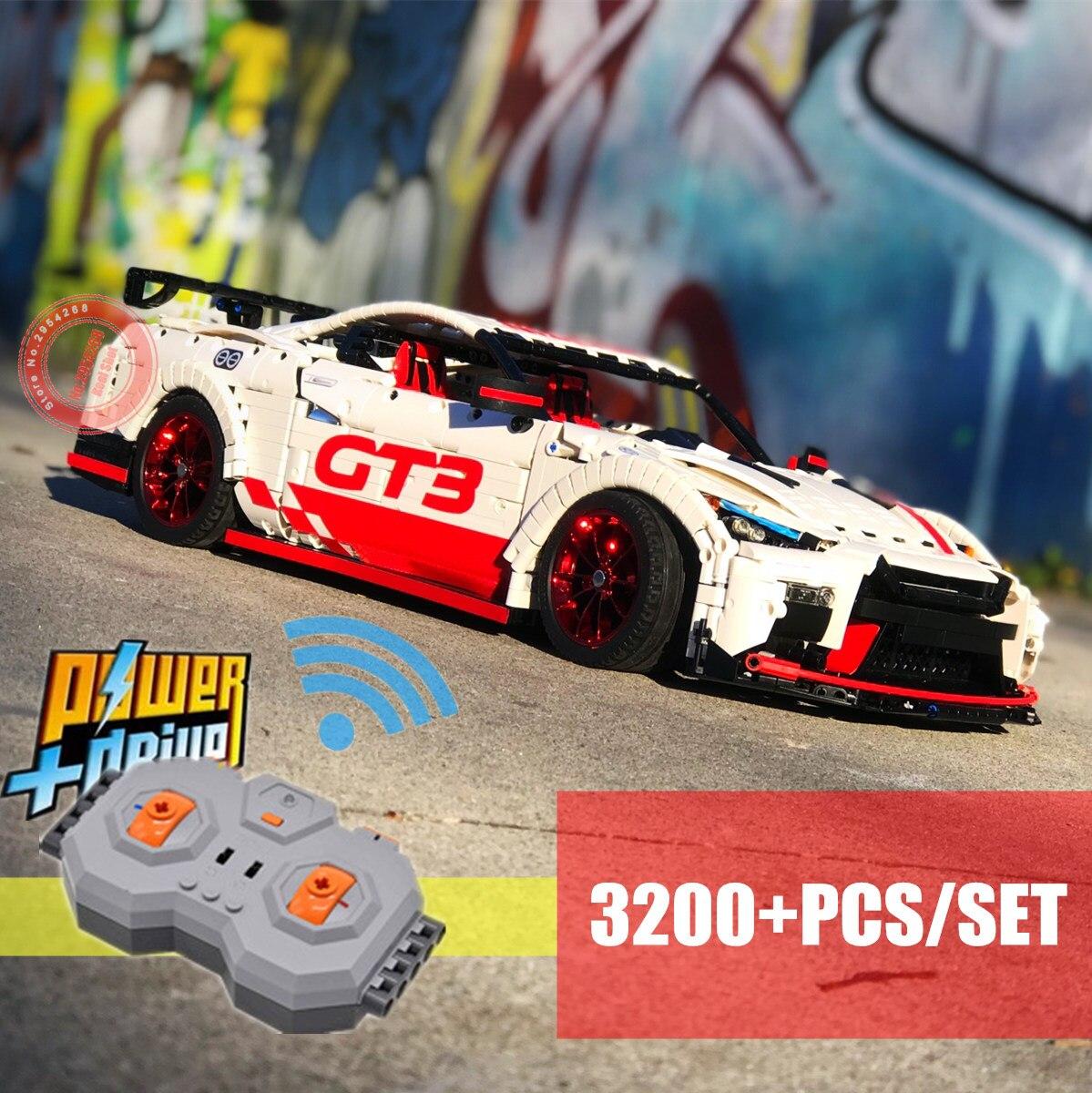 2019 New 3200PCS MOC Racing Car Motor Power Functions fit technic MOC 25326 Building blocks bricks