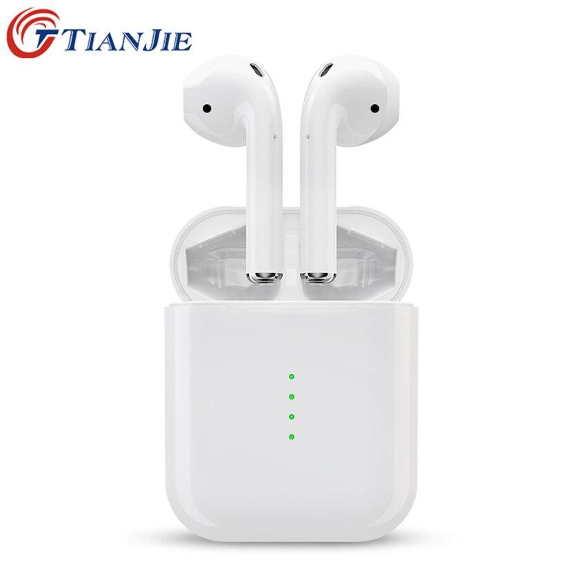 TianJie i10 TWS Bluetooth/Sans Fil Écouteur 5.0 Air Gousses Intra-auriculaires Casque Tactile Contrôle pk i7s i9s i11 i12 I13 casque Airdots