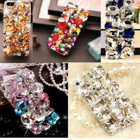 3D Luxury Bling Crystal Diamonds Hard Back Case Cover For IPhone 4 4S 5 5S 6