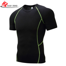 Summer Style New T Shirt Men Camisa Masculina 2017 New Brand Sales Camisas Quick Dry Slim Fit Compression T-shirt Men's Clothing