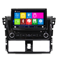 Car DVD Gps Navigation Mirror For Toyota 2014 vios Car Radio Steering Wheel Control Rear Camera BT FM Rds Usb Ipod mp3 Player TV