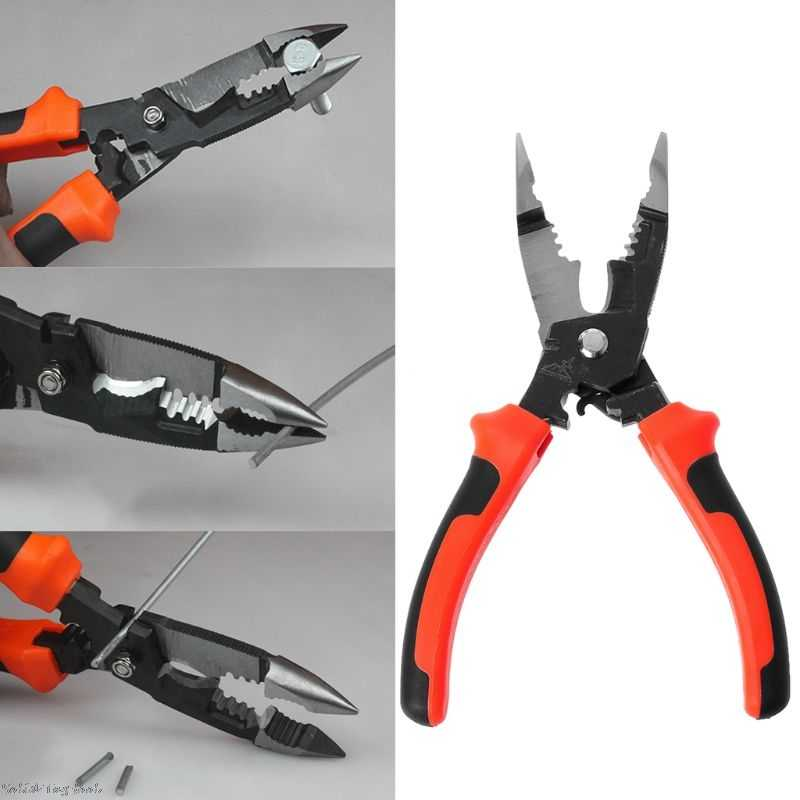 5 In 1 Multifunctional Wire Stripper Plier 8inch 210mm Cable Crimping Cutter Electrician Cutting Hand Tools