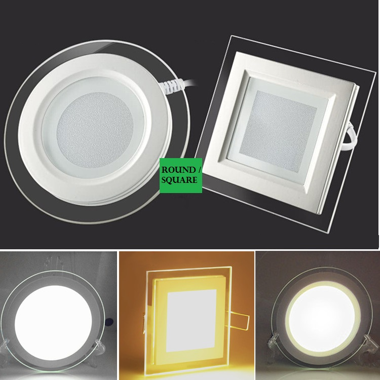 LED ceiling glass crystal panel light / color change light modern exhibition hall decoration