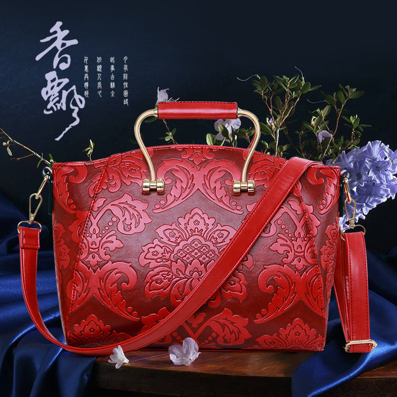 ФОТО 2015 The New Printing National Style Shoulder Handbag Classical Elegant Lady Handbag Vintage Bags