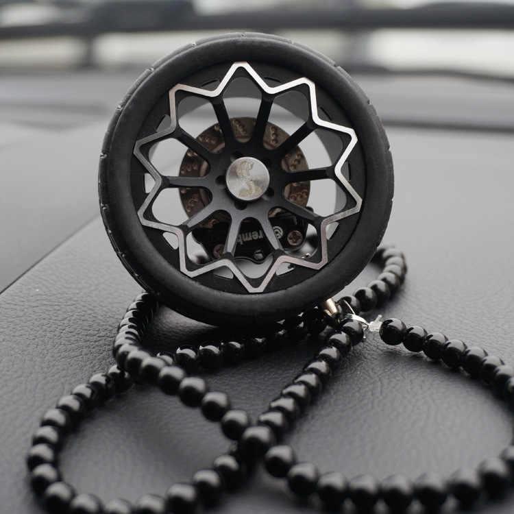 Luxe Racing Autobanden Model Metalen Wiel Sleutelhanger Lederen Touw mannen Auto Wiel Bead Chain Hanger Aluminium Sleutelhanger houder
