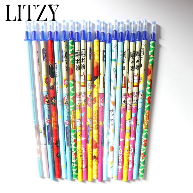 20Pcs/Set Office Gel Pen Erasable Refill Rod Magic Erasable Pen Refill 0.5mm Blue Ink Stationery Pen For Student Writing Tool цена