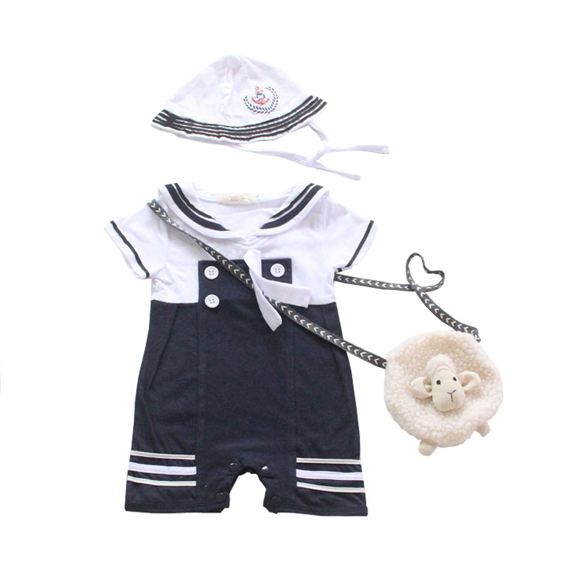 NewBorn-Baby-Dress-Summer-Cotton-Bow-Baby-Rompers-for-girls-Kids-Scarf-Navy-Overall-Bebes-Sailor-Style-Jumpsuit-baby-cloth-baby-3