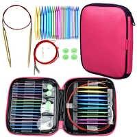 Circular Strick Nadeln Set 26 stücke Austauschbar Häkeln Nadeln für Häkeln Garn Stricken Zubehör Kit für Anfänger Geschenk