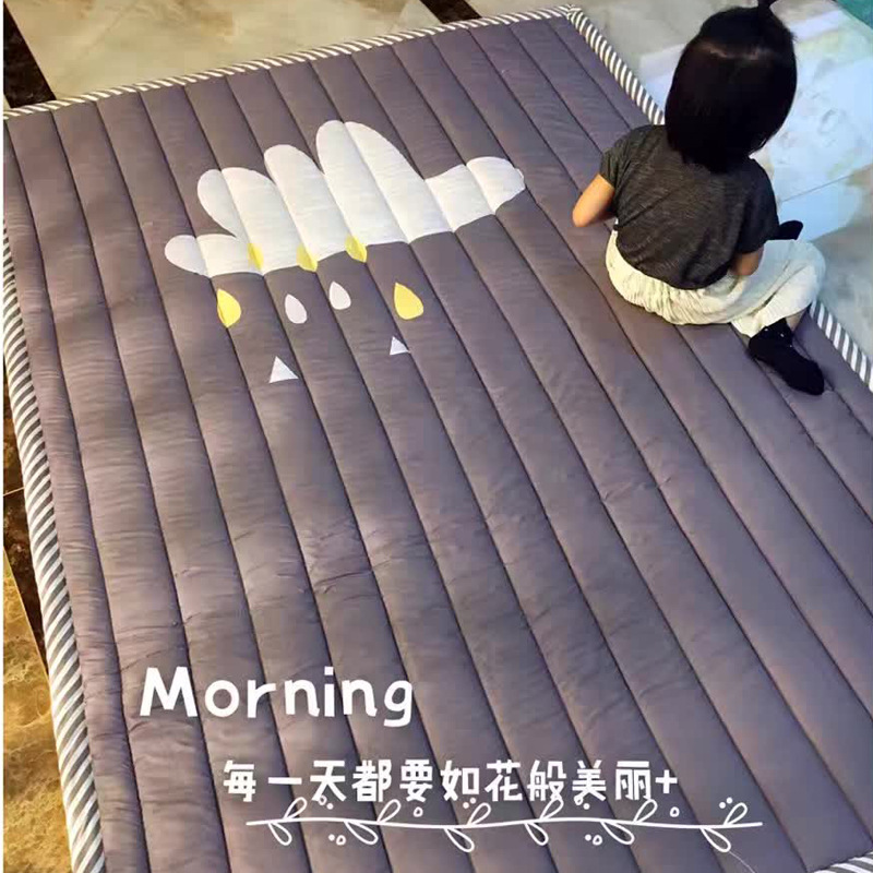 Baby Soft Play Mat Game Blanket Pad Kids Play Carpet Climb Mat Crawling Mat Sundries Pouch Toys Storage Bag picnic mats 1 4cm thick cartoon puzzle play mat 28pcs lot baby crawling rug climb pad children carpet eva foam kids game soft floor toy 450