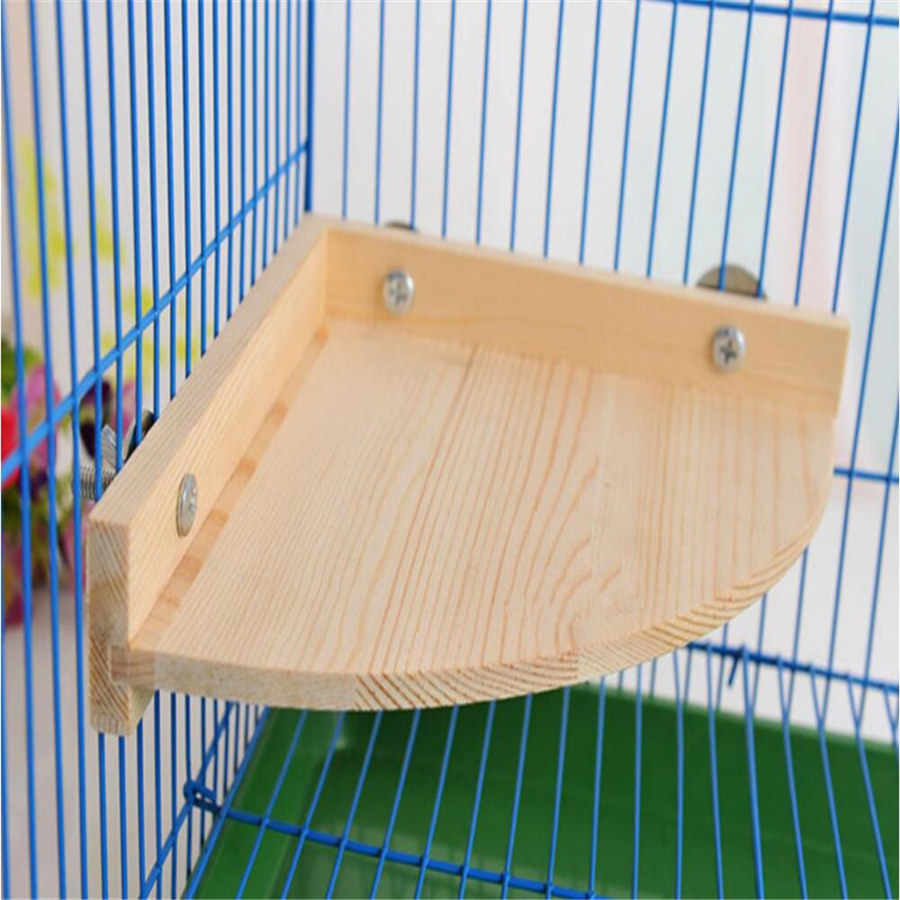 1PCS Durable Perches Wooden Birds Parrot Stand Platform Small Pet Parakeet Hamster Squirrel Chinchilla Rat Cage Stand Play Toy