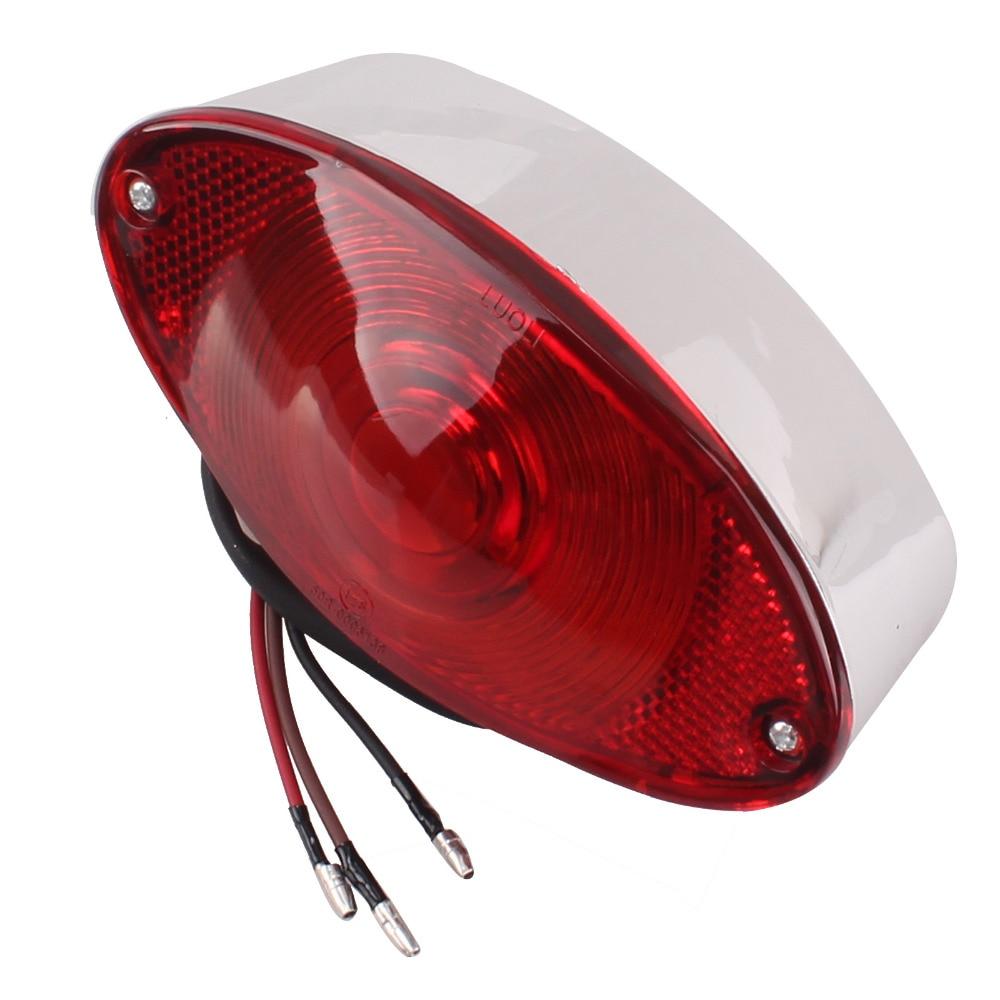 Chrome//Red REAR ARROW TURN SIGNALS for Honda Kawasaki Suzuki Yamaha
